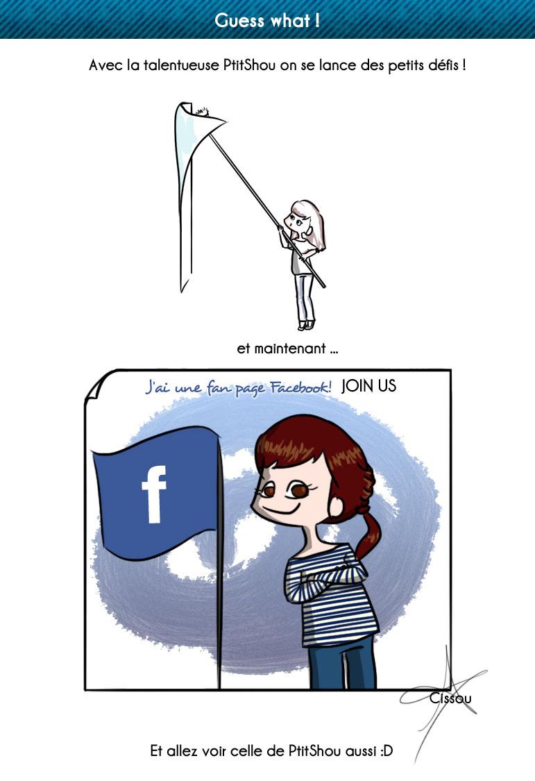 Cissou crée sa fan page Facebook
