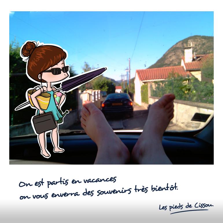 Les pieds de Cissou partent en vacances (1)