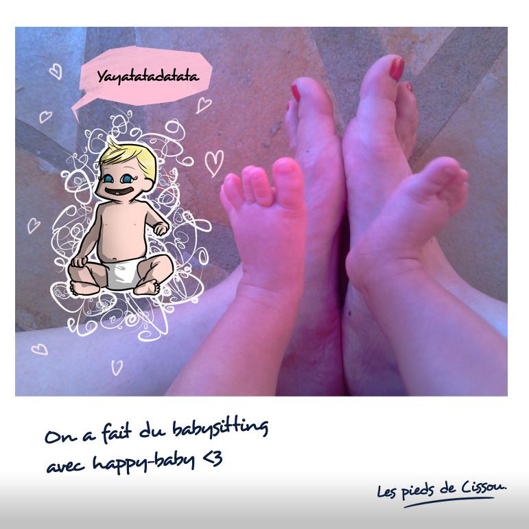 Les pieds de Cissou font du babysitting