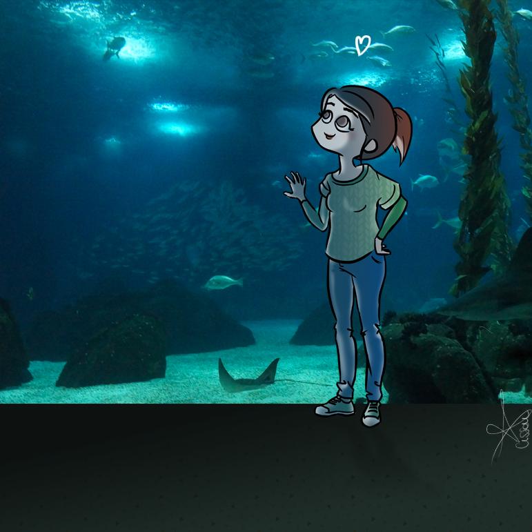 Cissou à l' océanarium