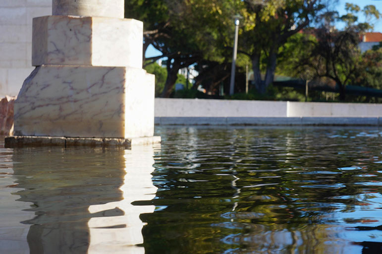 Fontaine à l'entrée Nord du Parc Edouard 7