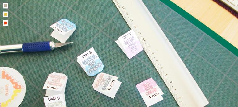 Etape 6 : Les étiquettes