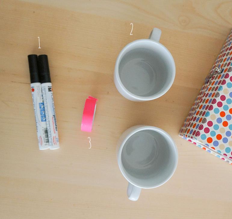 DIY Mugs - Matériel