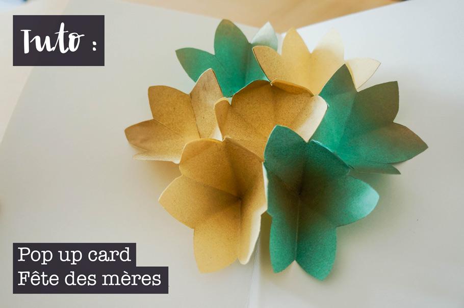 Pop up card fleurie pour la fête des mères