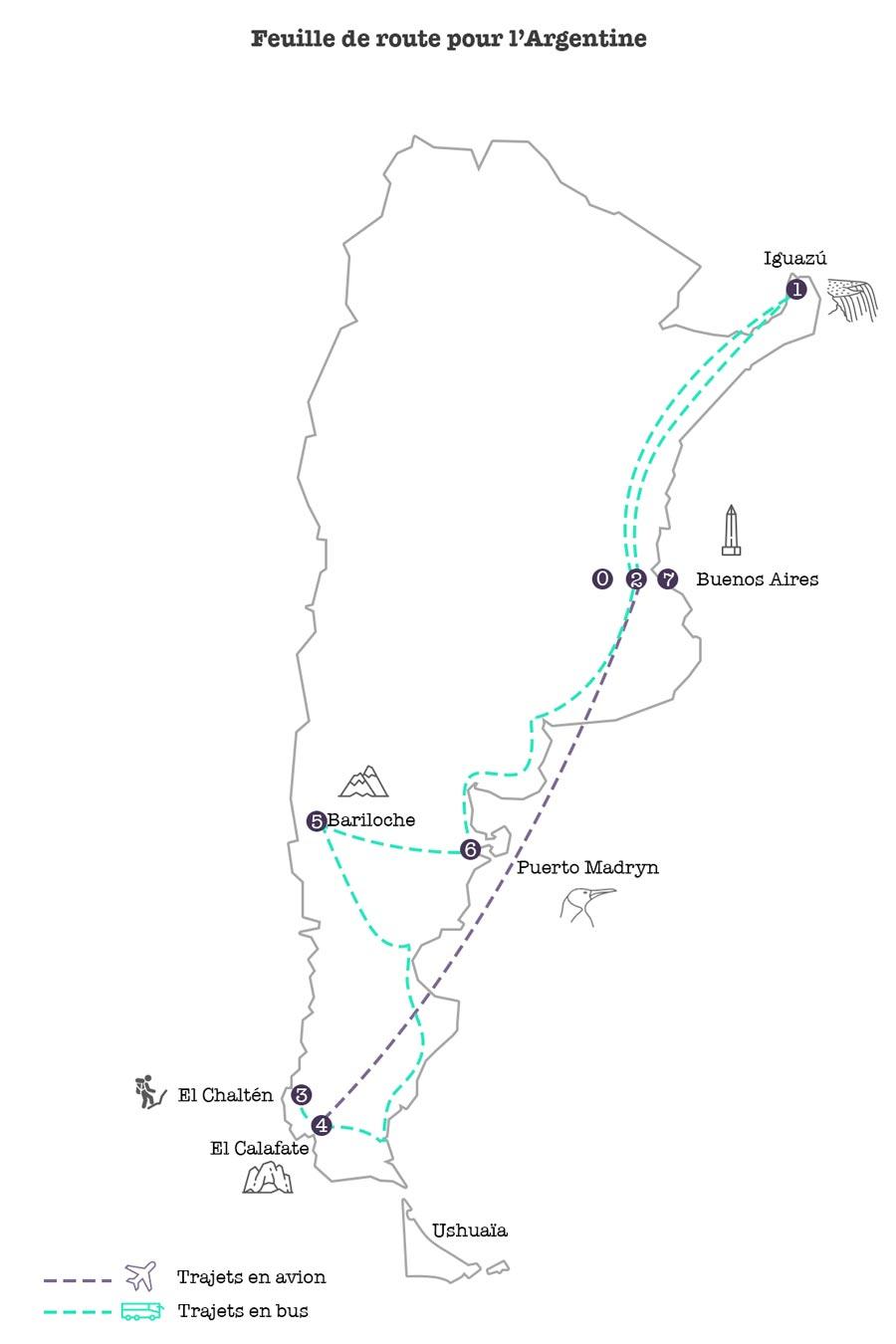 Feuille de route 3 semaines en Argentine